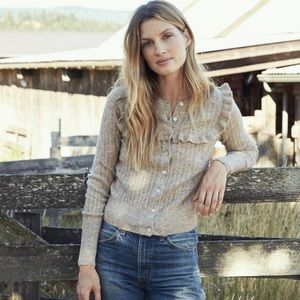 DOEN Altheda Sweater in Heathered Oatmeal …